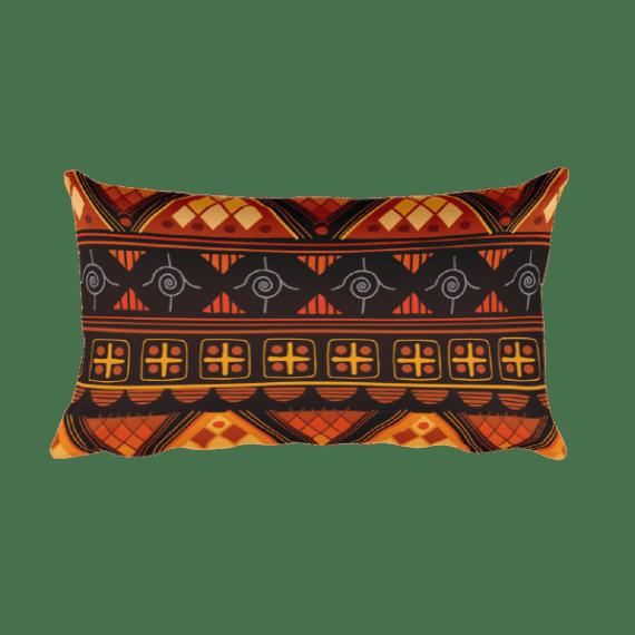 Aztec bright - Native American Styles Decorative Rectangular Pillow