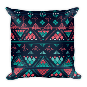 Aztec tender - Native American Styles Decorative Square Pillow