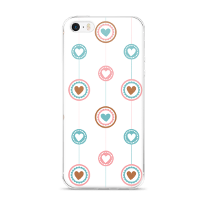 Flat Design Lines And Hearts For iPhone 5/5s/Se, 6/6s, 6/6s Plus Case