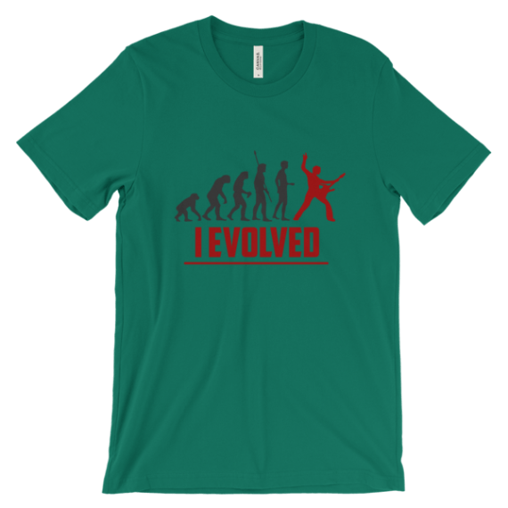 Guitar Player Evolution - I Evolved t-shirt