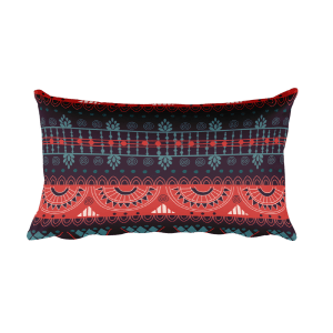 Harmony Violet Rectangular Pillow