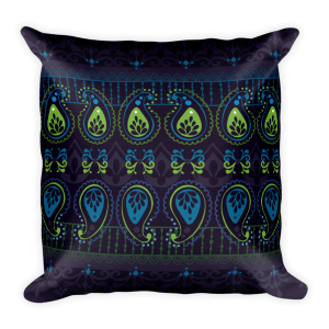 Jewel Blue Square Pillow