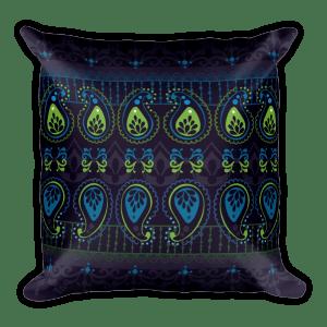 Jewel Blue Square Pillow