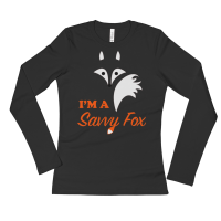 Ladies' I'M A SAVVY FOX Long Sleeve T-Shirt