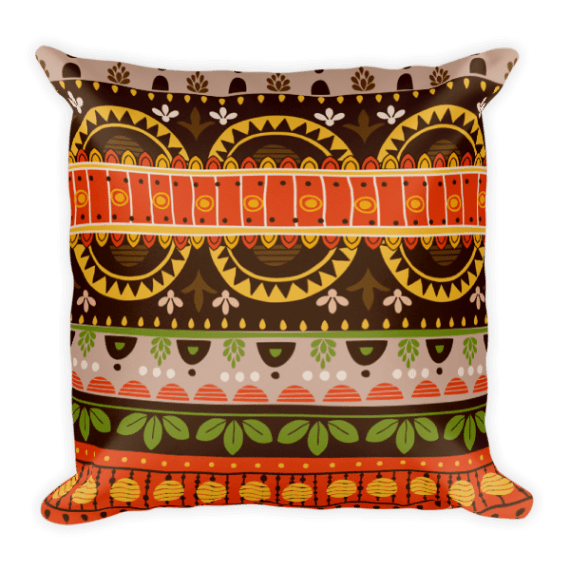 Mexico Brown Square Pillow