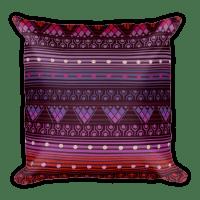 Reddish Pink Square Pillow