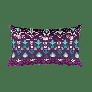 Tribal Blue Violet Rectangular Pillow