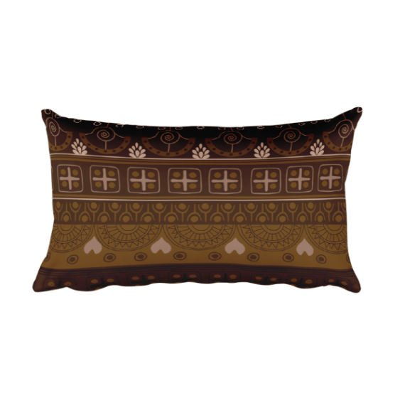What Devotion Home Brown Rectangular Pillow