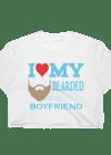 Women's I Love My Bearded Boyfriend Crop Top