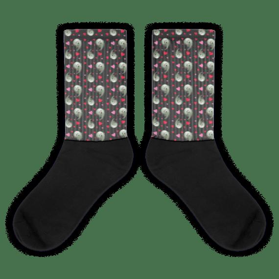 Ghosts Black foot socks