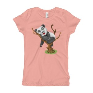 Girl's Playful Baby Panda Sticking His Tongue Out T-Shirt