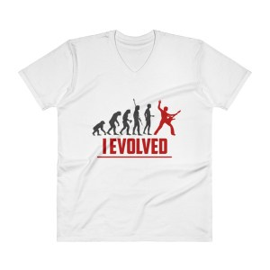 GUITAR PLAYER EVOLUTION - I EVOLVED V-Neck T-Shirt