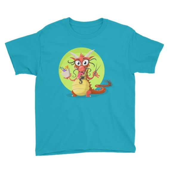 Traditional Chinese Dragon Youth Short Sleeve T-Shirt