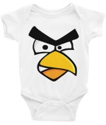 ANGRY CARDINAL BIRD Infant Bodysuit