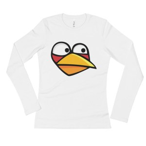 Ladies' Angry Blue Bird Long Sleeve T-Shirt