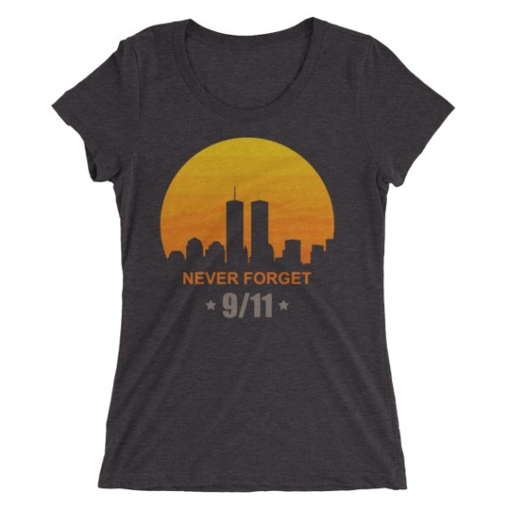 Ladies' Never Forget 9/11 short sleeve t-shirt