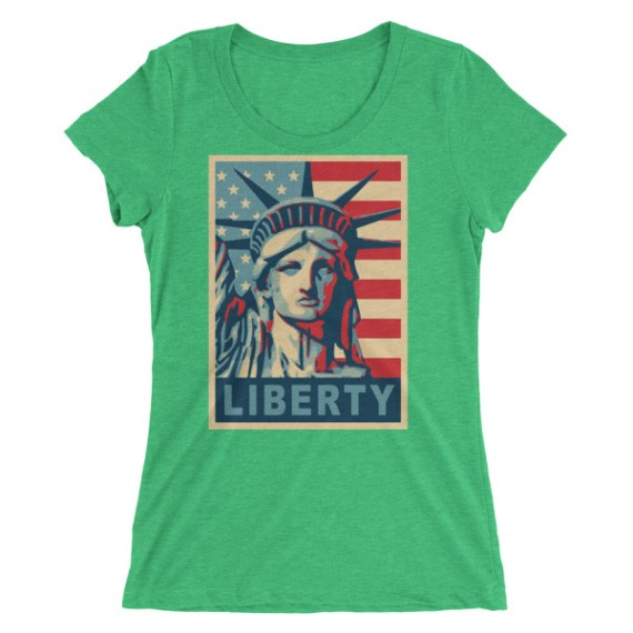 Ladies' Statue of Liberty Poster short sleeve t-shirt