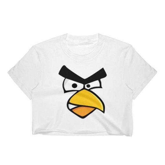 Women's Angry Cardinal Bird Crop Top