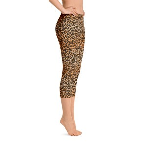 Leopard Skin Capri Leggings – RUNNING PANTS