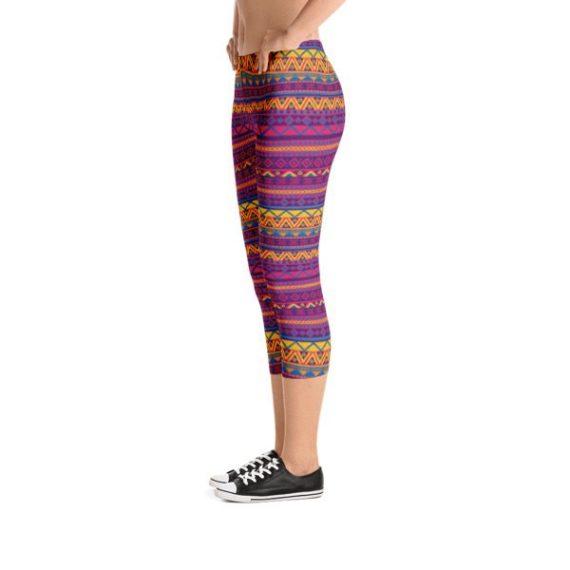 Native American Yoga Pants - American Indian Capri Leggings