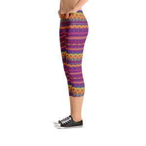 Native American Style Capri Leggings - Running Pants