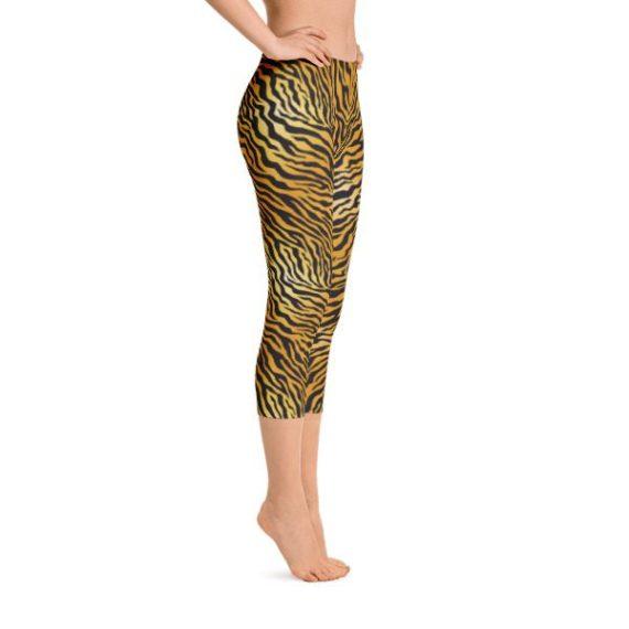 Tiger Skin Capri Leggings – RUNNING PANTS