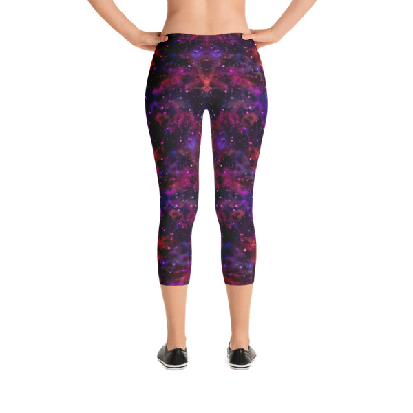 Women's Galaxy Capri Leggings – Space RUNNING PANTS