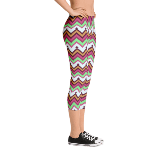 Aztec Tribal Style Capri Leggings