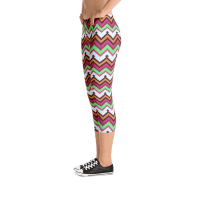 Aztec Tribal Style Capri Leggings