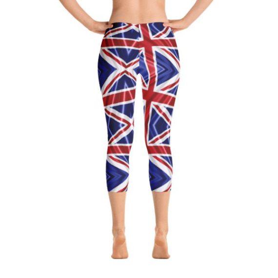 British Flag Leggings Capri Leggings - UK Flag Leggings