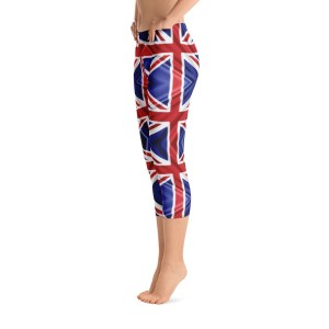 British Flag Leggings Capri Leggings - UK Flag Leggings
