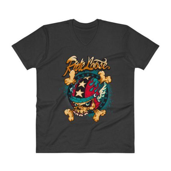Elegant Comic V-Neck T-Shirt
