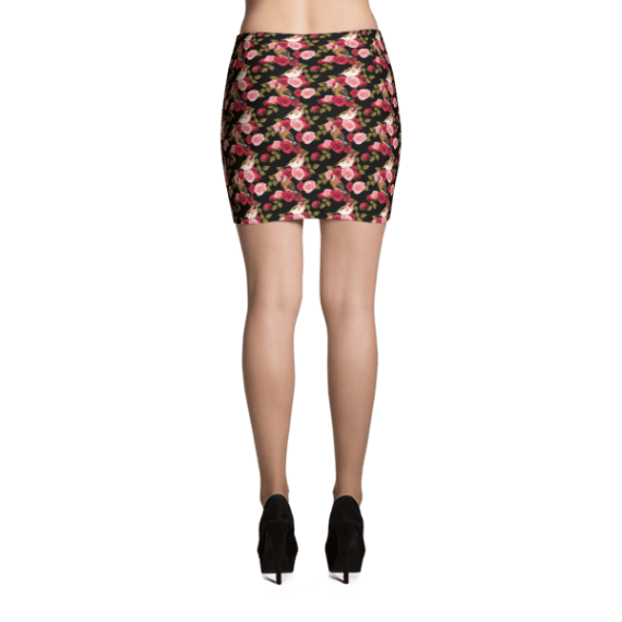 Goldfinch and Roses Mini Skirt