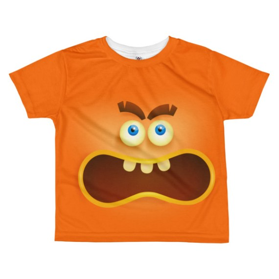 kids Angry Face T-shirt - Girl's Angry Face Emoji T-shirt