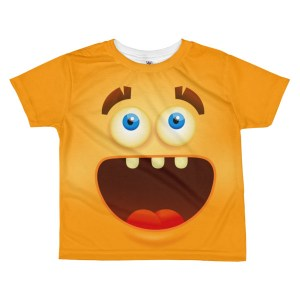 kids Funny Laughing Smiley Face T-shirt - Girl's Emoji T shirt