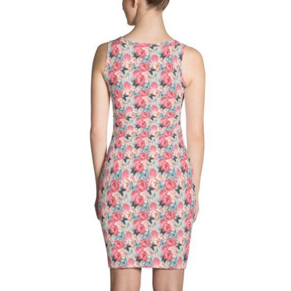 Pink Flowers & Butterflies Dress