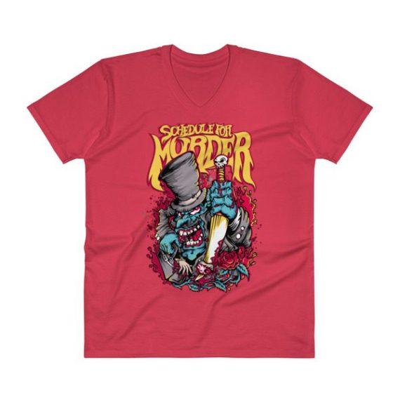 Skull V-Neck T-Shirt