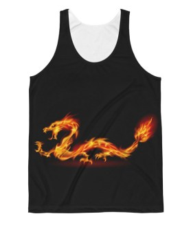 Unisex Dragon Fire Classic Fit Tank Top