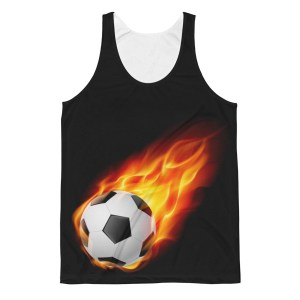 Unisex Football on Fire Classic Fit Tank Top