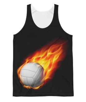 Unisex Volleyball Flaming Ball Classic Fit Tank Top