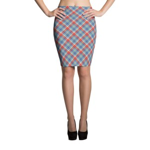Women's Plaid Pencil Skirt