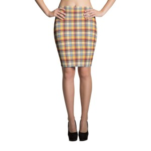 Women's Sexy Tartan Pencil Skirt