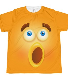 youth Funny Wondering Smiley Face T-shirt