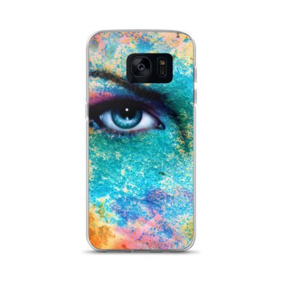 blue women eye beaming Samsung Case