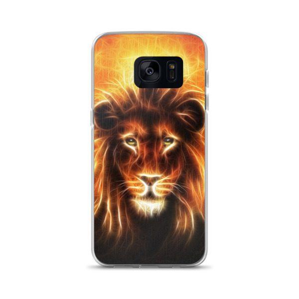 lion head with golden mane Samsung Case