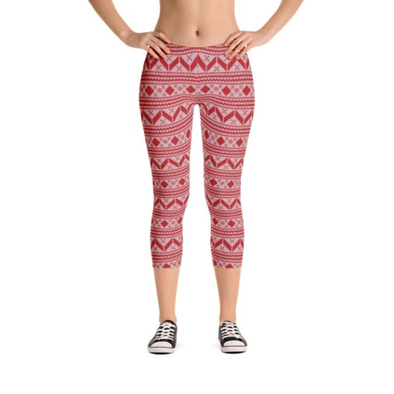 What Devotion! Christmas Fashion Capri Leggings