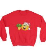 Emoticon with santa hat and dollars Sweatshirt