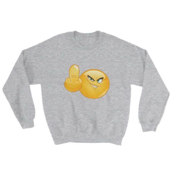 Middle finger Emoji Sweatshirt