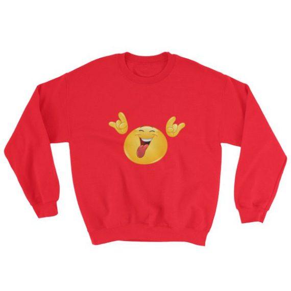 Rock it emoticon Sweatshirt