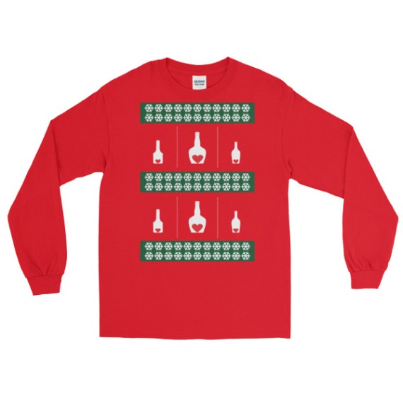 Ugly Christmas Sweater - love Alcohol Long Sleeve T-Shirt